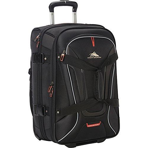 High Sierra 57018-1041 AT7 Rolling Upright Duffel Bag, Black, 22-Inch