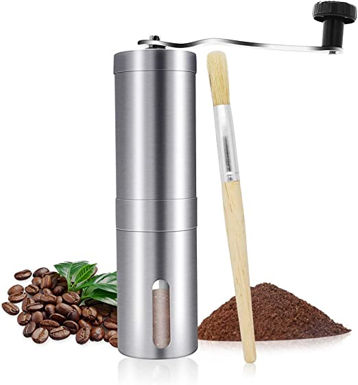 Adjustable Ceramic Core Manual Coffee Grinder Home Office Hand Crank Bean Mill