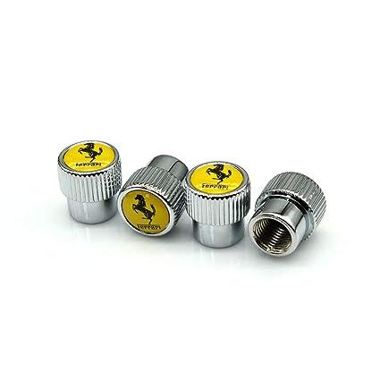 A Set of 5 Pcs Zhmyyxgs Car Tire Valve stem caps Accessories Logo for Ferrari