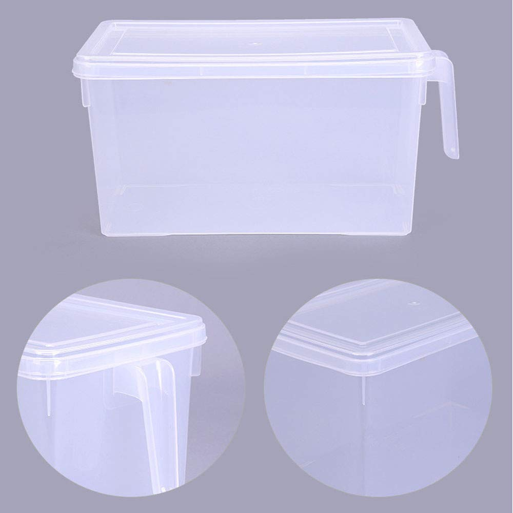 Beneficial Food Collecting Storage Container, Fruit Storage Box for Refrigerator, Freezer, Kitchen (White)