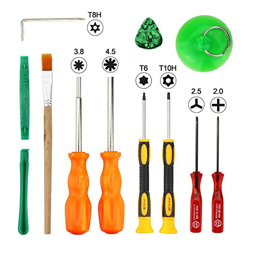 T8 T6 T10 Screwdriver Set, 3.8mm and 4.5mm Security Screwdriver Game Bit Tool Set, Full Game Tool Kit for Nintendo Switch, Nintendo 64 console and Xbox One, Xbox 360 Controller Game Cube Console - Games Screwdriver Set
