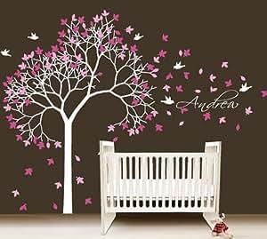 Amazon.com: Vinyl Wall Decal Nursery Maple Tree Decals ...