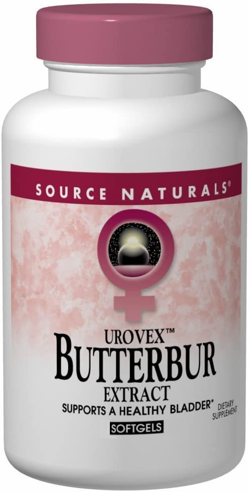 Source Naturals Butterbur Extract urovex 50mg, Supports a Healthy Bladder, 60 Softgels