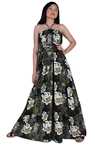 MayriDress Maxi Dress On Sale Plus Size Clothing Party Gift Idea Wedding Guest (3X, Green/ Halter) (Hippie Dress Up)