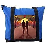 Lunarable City Love Shoulder Bag, Romantic Couple Sunset, Durable with Zipper