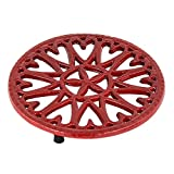 Minuteman International 7-Inch Sunburst, Cast Iron Trivet