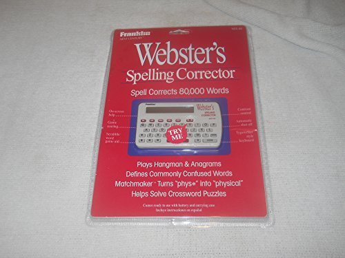 Webster's Spelling Corrector and Games NCS101