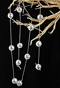 3 Garlands - 5 Foot Silver Mirrored Disco Ball Garlands - 15 Foot Total by Unknown