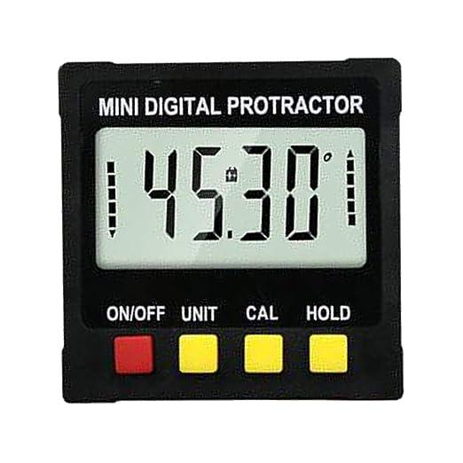 Homyl Base de Imán Inclinómetro LCD Medidor Mini Piezas de ...
