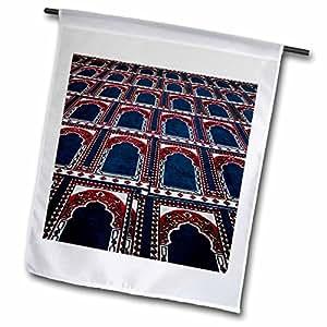 3dRose fl_74155_1 Pattern of Prayer Rugs Islamic Mosque Cairo Egypt Af14 Aje0030 Adam Jones Garden Flag, 12 by 18-Inch