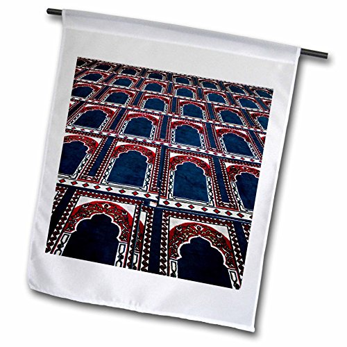 (3dRose fl_74155_1 Pattern of Prayer Rugs Islamic Mosque Cairo Egypt Af14 Aje0030 Adam Jones Garden Flag, 12 by 18-Inch)