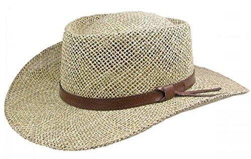 Stetson Gambler Seagrass Outdoorsman Hat,Wheat,Large/X-Large