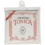 Pirastro 4120 Tonica Synthetic Core Violin String Set, E-Loop Envelope, 4/4 Size