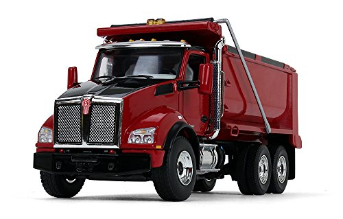 (First Gear 1/50 Scale Diecast Collectible Red/Red Kenworth T880 Dump Truck (50-3405))