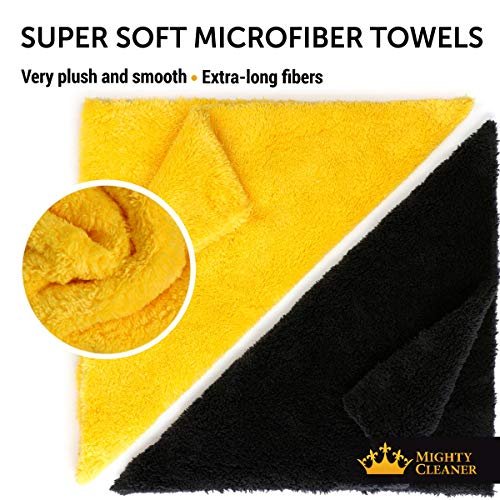 """Premium Microfiber Towels for Cars - Thick Professional Microfiber Cleaning Cloth for Cars - 6 Pack (12""""x12"""")"""