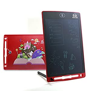 LCD Writing Tablet LCD board Writing pad writing tablets for kids 8.5inch Drawing Board Doodle Pad Writing Board Kids tablet Kids doodle pad White board Fridge Magnet Notepad Back School Gift(Red)