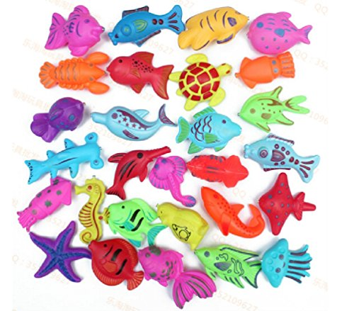 - Wholesale 30pcs/lot plastic double faced 3D Stereo Fish Magnetic Fishing Toy Best Gift for Baby Boy or Girl Educational Toys