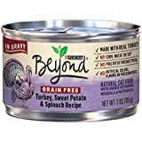 Purina Beyond Grain Free Turkey, Sweet Potato & Spinach Recipe in Gravy Adult Wet Cat Food - (12) 3 oz. Cans