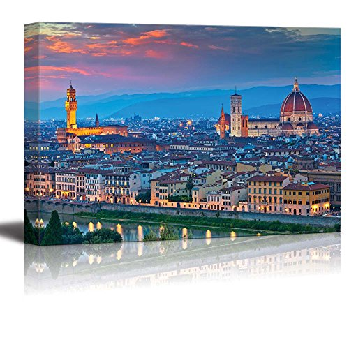 wall26-canvas-prints-wall-art-florence-image-of-florence-italy-during-beautiful-sunset-modern-wall-d
