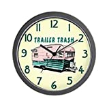 CafePress – Trailer Trash – Unique Decorative 10″ Wall Clock