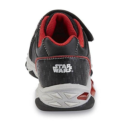 Star Wars Kinder Jungen Blink Licht Turnschuhe Sneakers Schuhe Darth Vader Schwarz Rot