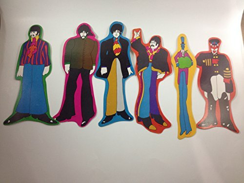 Beatles Set 6 Cardboard Pop Outs Yellow Submarine 1968 KFS Suba Vintage Memorabilia Rare Captain Fred Apple Bonkers Paul McCartney John Lennon Ringo Starr George Harrison (Rock T-shirt Rare)