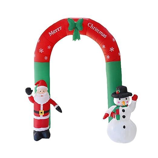 Giytoo - Árbol de Navidad Hinchable de 2,4 m, diseño de Papá Noel ...