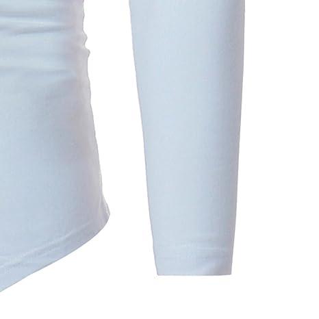 Camisetas, Ling+YAN Blusa Sin Mangas Irregular De Cuello Alto De Manga Larga para Hombres Ocasionales De Los Hombres: Amazon.es: Ropa y accesorios