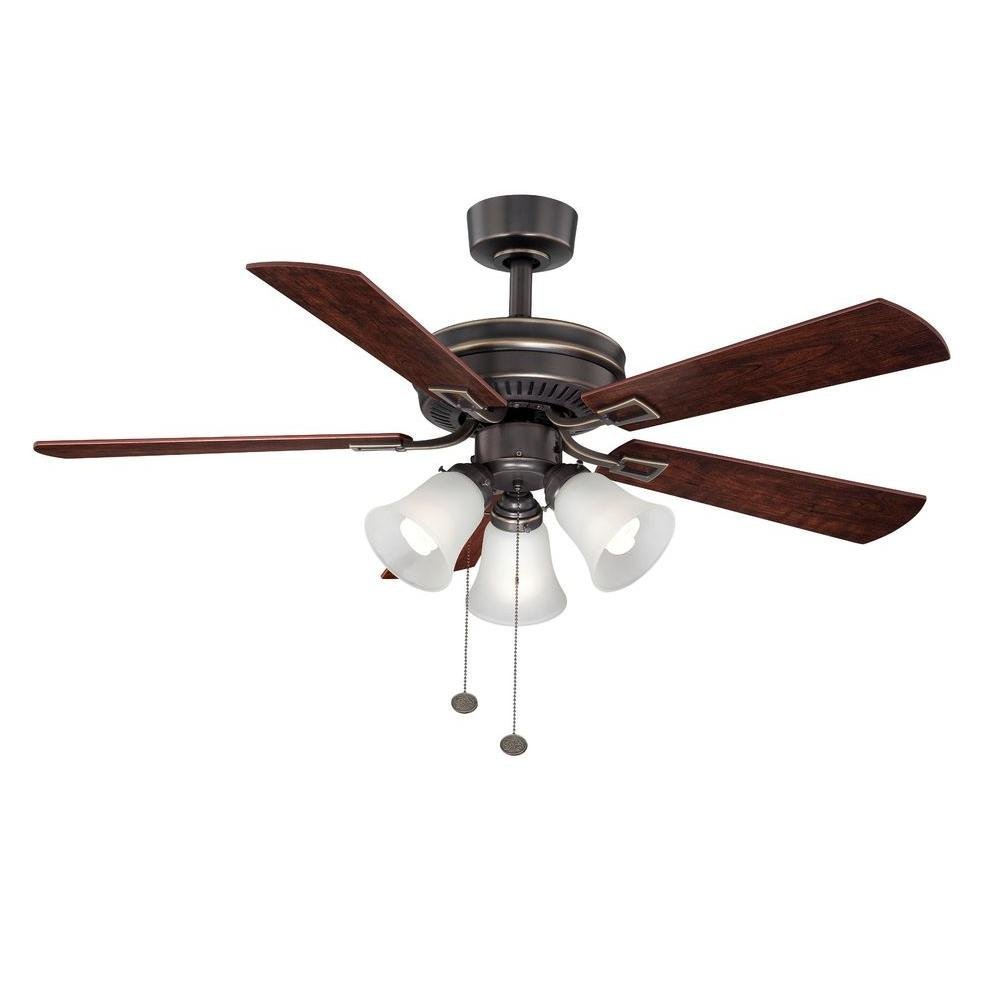 Hampton Bay Sinclair 44 in. Tarnish Bronze Ceiling Fan