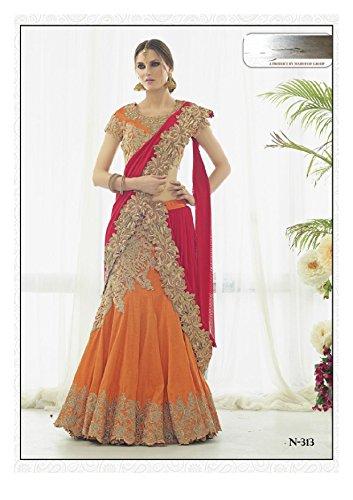 Bollywood Women Lehenga Choli Dupatta Ceremony Bridal Wedding Women Blouse Collection 617 13 by SHRI BALAJI SILK & COTTON SAREE EMPORIUM (Image #1)