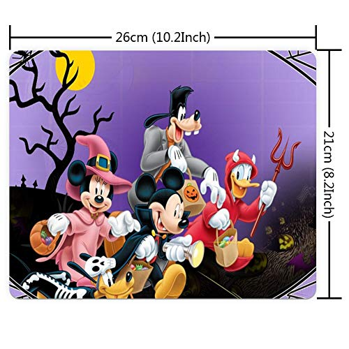 Mouse Pad Rectangle Mouse Pad Halloween Mickey Mouse and Minnie Mouse Goofy Donald Duck Pluto Disney Halloween Wallpaper Defender -