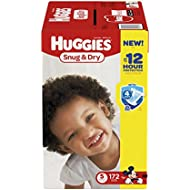 Huggies Snug & Dry Diapers, Size 5, 172 Count (One Month Supply) (Package may vary)