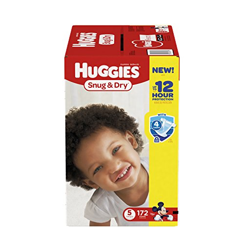 Huggies Snug & Dry Diapers, Size 5, 172 Count (One Month Supply) (Ddn Inc compare prices)
