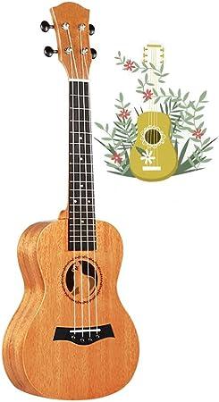 BAIYING-Guitarra Acústica Al Aire Libre 23 Pulgadas Ukelele Guitarra Infantil Ejercicio for Principiantes Hermoso Sonido Caoba 5 Colores (Color : B, Size : Long-61cm): Amazon.es: Hogar
