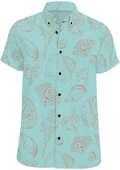 InterestPrint Cactus Button Down Regular Fit Short Sleeve Shirts for Men