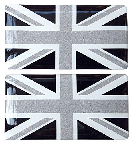 2 GB Union Jack Flag badge Car REFLECTIVE Number Plate Vinyl Stickers Brexit Alternative Badge