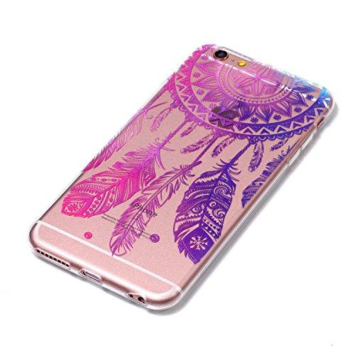 iPhone 6 Plus / 6S Plus Coque Carillons roses Premium Gel TPU Souple Silicone Transparent Clair Bumper Protection Housse Arrière Étui Pour Apple iPhone 6 Plus / 6S Plus + Deux cadeau