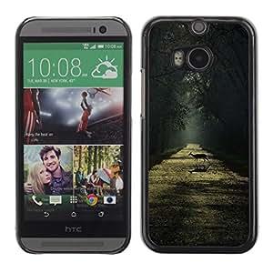 LECELL--Funda protectora / Cubierta / Piel For HTC One M8 -- Rain Summer Sunshine Sun Road --