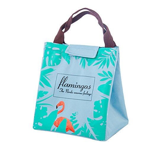 EUBUY Lunch Bags - Oxford Cloth Aluminum Foil Insulated Cooler Bag Portable Takeaway Cooler Bag Lunch Box Package Green