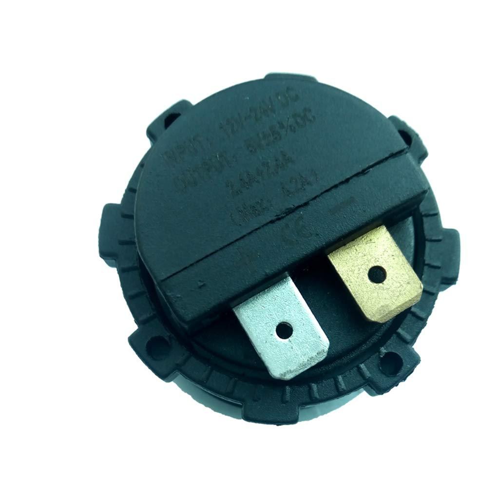 fgghfgrtgtg 24V Auto-USB-Ladeger/ät 2.1A f/ür Motorrad-Auto-LKW-ATV Boot Dual USB-Buchse Ladeger/ät-Energien-Adapter Steckdose Strom