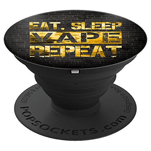 Eat Sleep Vape Repeat Vaping Vape On Yellow Clouds - PopSockets Grip and Stand for Phones and Tablets