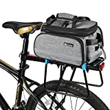 Bicycle Rear Pannier Bag Waterproof, 10-25L Multi-Function Large Capacity Detachable Bicycle Tail Seat