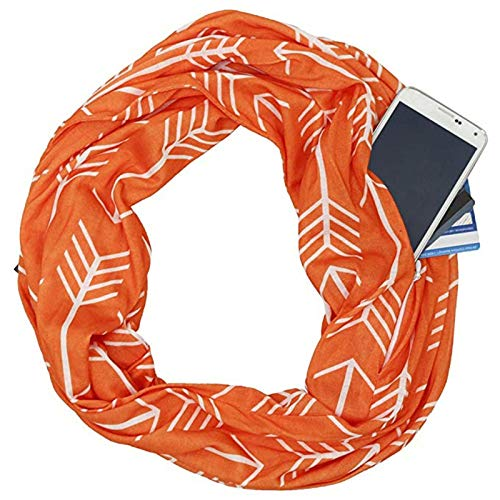 Silk Antique Wrap Scarf Shawl - Unilove Solid Scarfs Stoles for Women Silk Shawls and Wraps for Evening Dresses (C Classic-orange)
