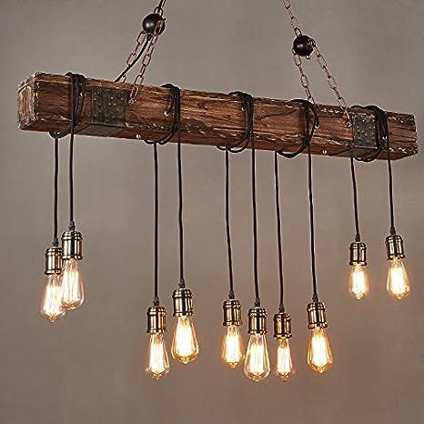 Amazon.com: Jiuzhuo Farmhouse Style - Lámpara de techo ...