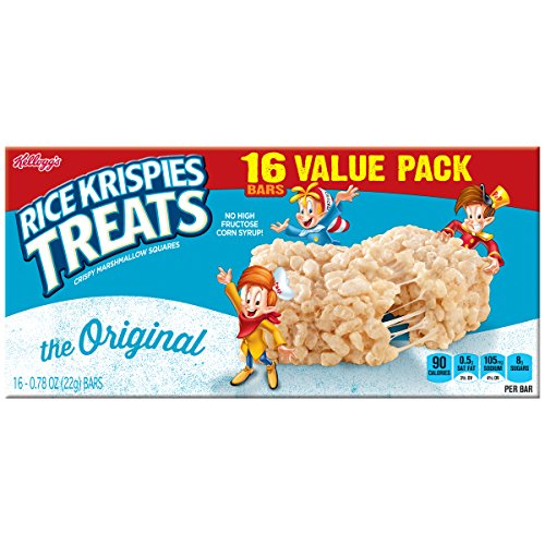 Large Product Image of Rice Krispies Kellogg's Treats, Crispy Marshmallow Squares, Original, Value Pack, 0.78 oz Bars (16 Count)