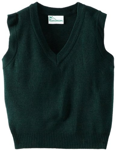 Classroom Uniforms CLASSROOM Big Boys' Uniform Sweater Vest, Hunter, Medium
