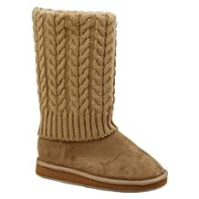 New Sunville Women's Rib Knit Sweater Crochet Boots Available In 3 Colors