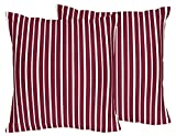 Sweet Jojo Designs 2-Piece Vintage Aviator Red and White Stripes Decorative Accent Throw Pillows