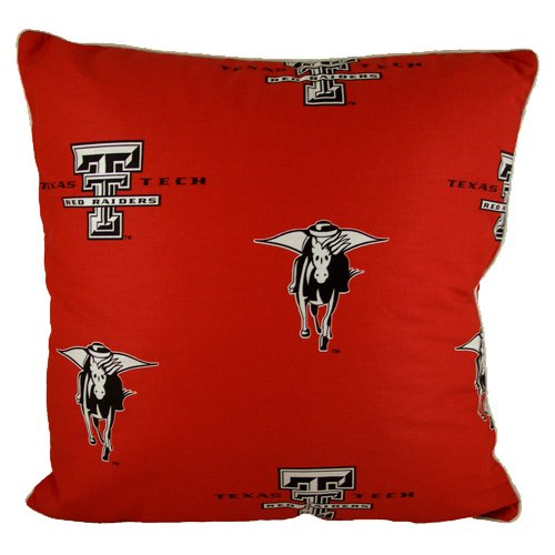 College Covers Texas Tech Red Raiders 16'' x 16'' Decorative Pillow - (Includes 2 Decorative Pillows)