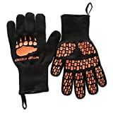 932° F High Temperature Heat and Flame Resistant BBQ and Oven Gloves